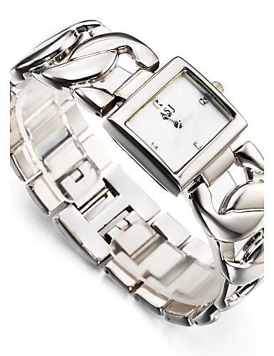 ASJ สำหรับผู้หญิง นาฬิกาข้อมือ นาฬิกาสแควร์ ญี่ปุ่น นาฬิกาอิเล็กทรอนิกส์ (Quartz) เงิน / ทอง 30 m กันน้ำ กันกระแทก ระบบอนาล็อก สุภาพสตรี เสน่ห์ วิบวับ ไม่เป็นทางการ แฟชั่น - ขาว สีทอง / หนึ่งปี
