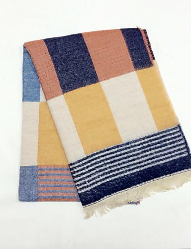 voordelige Mode-accessoires-Unisex Werk Patchwork Rechthoekige sjaal - / Lente / Herfst / Winter