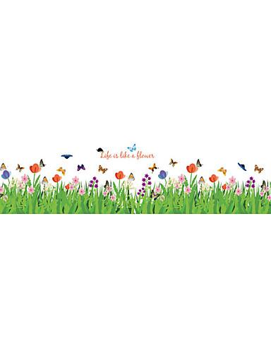 preiswerte Botanische Wandsticker-Dekorative Wand Sticker - Flugzeug-Wand Sticker Tiere / Mode / Blumen Wohnzimmer / Schlafzimmer / Badezimmer