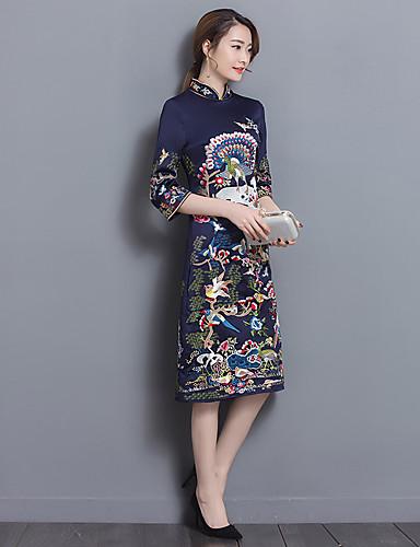 d83dbe5811 aláírására 2017 retro mintás ruhát gallérral növelni kínai stílus jobb  cheongsam ruha ms. hosszú szakaszon 5572333 2019 – $18.99