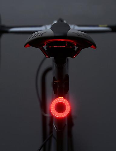 billige Sykkellys og reflekser-LED Sykkellykter Baklys til sykkel sikkerhet lys Fjellsykling Sykkel Sykling Vanntett Flere moduser Super Bright Bærbar 10 lm Oppladbar Usb Camping / Vandring / Grotte Udforskning Sykling / ABS