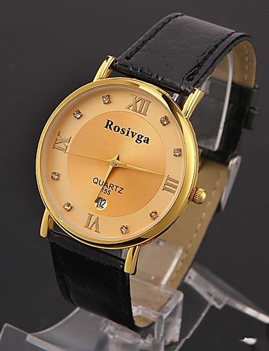 70c9c5f4c843 Hombre Reloj Deportivo Reloj de Moda Reloj de Pulsera Cuarzo Cuero  Auténtico Múltiples Colores 30 m Analógico Lujo Vintage Casual - Dorado  Blanco Negro ...