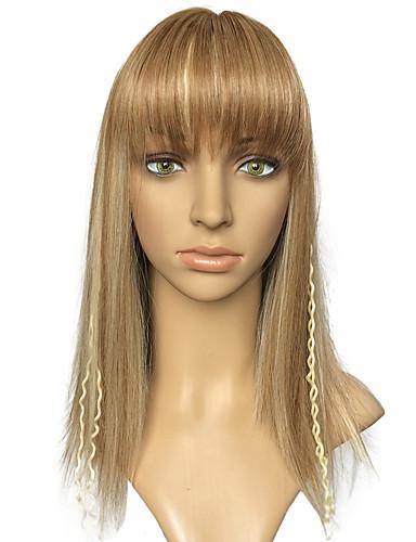 preiswerte Pflege & Haar-Synthetische Perücken Glatt Gerade Mit Pony Perücke Blond Blonde Synthetische Haare Damen Geflochtene Perücke Afrikanische Zöpfe Blond