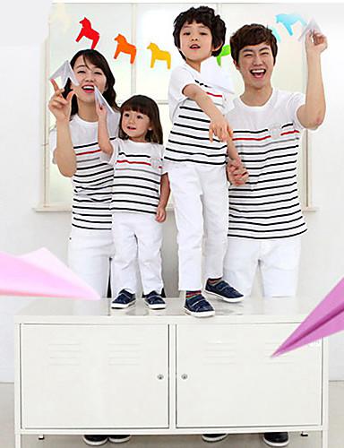 preiswerte Ausverkauf-Gestreift Standard Baumwolle T-Shirt Farbbildschirm