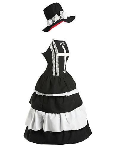 povoljno Maske i kostimi-Inspirirana One Piece Perona Anime Cosplay nošnje Japanski Cosplay Suits / Dresses Vintage Bez rukávů Haljina / Šešir Za Žene
