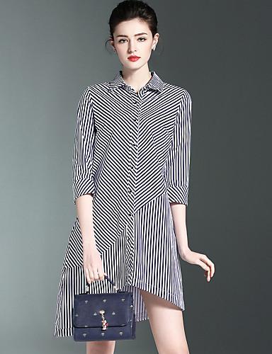 38937b5ef Mujer Camisa Vestido Casual Diario Trabajo Simple