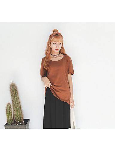 ddad2f809629 μοντέλα spot πραγματικό πυροβολισμό κοντομάνικο μπλουζάκι θηλυκό κορεατική  έκδοση του ένα στερεό χρώμα πουκάμισο γυναικεία ρούχα amp   39
