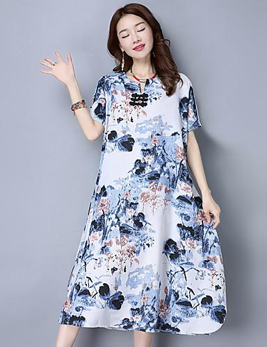Hüvely Swing Ruha Női Vintage Egyszerű Kínai Szabadság Alkalmi  Casual hétköznapi eb191f6a42