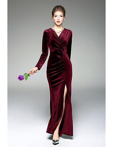 825786a58 Mujer Corte Bodycon Vestido Noche Casual Diario Festivos Simple