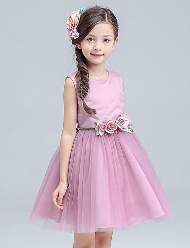 φόρεμα κορίτσι λουλουδιών μήκος φορεμάτων κορίτσι λουλουδιών - organza  αμάνικο λαιμό κόσμημα με λουλούδι από ydn 5617217 2019 –  54.99 b179753eb46