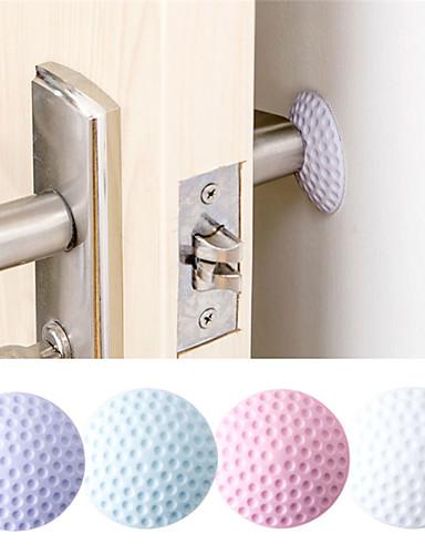 preiswerte Bettwäsche-Sets & Kopfkissen-nach der Wand stummschalten Türfender Golf Gummi Türschloss Schutzpolster Wand Stick
