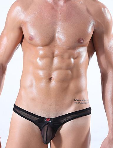e6022708c Homens G-string Underwear - Com Transparência