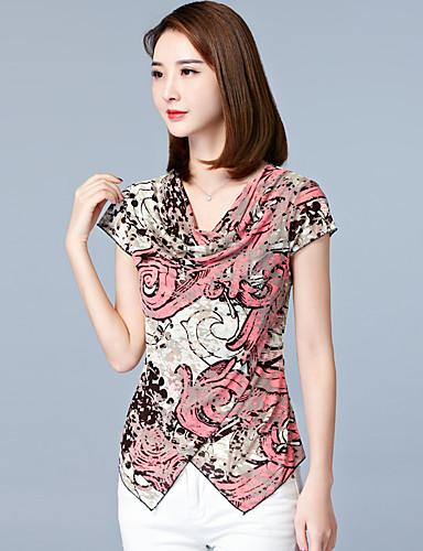 Γυναικείο Μπλούζα Μεγάλα Μεγέθη Απλό Στάμπα 086b233f500