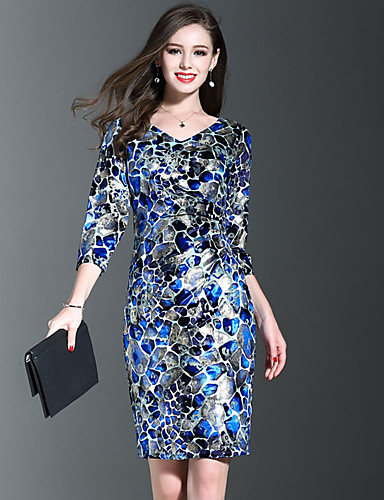 75edfdb8a65 Women s Plus Size Going out Sophisticated Sheath Dress