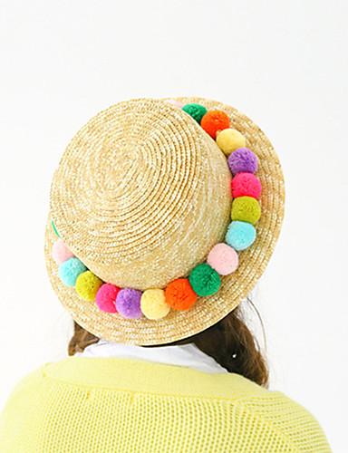 Mujer Sombrero Playero Sombrero de Paja Sombrero para el sol Bonito Casual- Verano-Paja 5577521 2019 –  8.39 78dfa065a8a