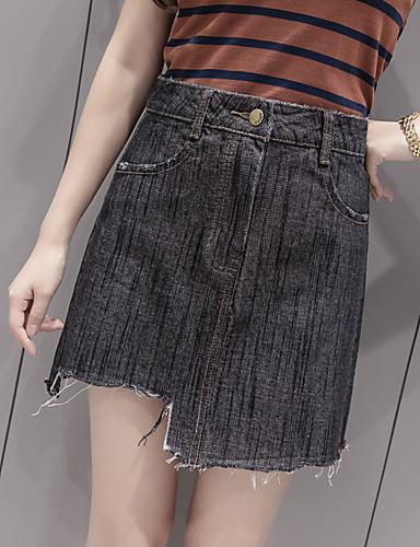 a97745a78c5c υπογράψει μπαμπού ύφασμα κορεατική έκδοση φούστες τζιν ακανόνιστο κόψιμο  μασώ φούστα μια λέξη φούστα θηλυκό παλίρροια 5607135 2019 –  12.99