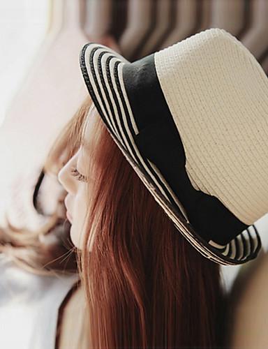 Mujer Sombrero Playero   Sombrero de Paja   Sombrero para el sol -  Vacaciones Un Color   Bonito   Verano 5577518 2019 –  8.39 fdd92ba4de5