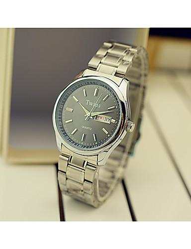 สำหรับผู้ชาย นาฬิกาแฟชั่น นาฬิกาอิเล็กทรอนิกส์ (Quartz) เงิน ระบบอนาล็อก ขาว สีดำ ฟ้า