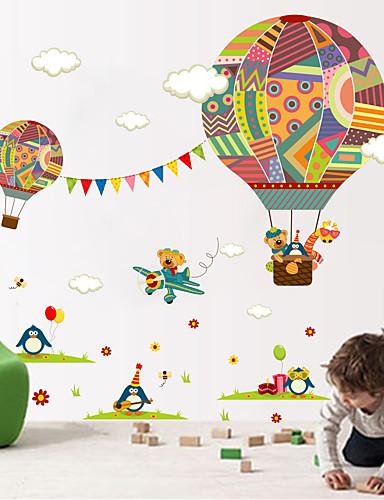 preiswerte Tier Wandsticker-Tiere Mode Formen Wand-Sticker Flugzeug-Wand Sticker Dekorative Wand Sticker, Vinyl Haus Dekoration Wandtattoo Wand Glas / Badezimmer