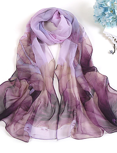 cheap The Best Accessories-Women's Party / Holiday Chiffon Rectangle Scarf - Plaid / Check Print