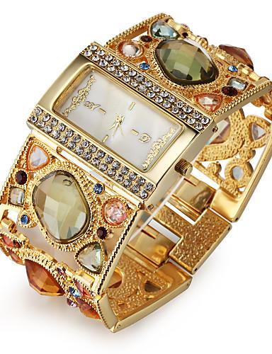 preiswerte ASJ®-Damen Uhr Luxus-Armbanduhren Armband-Uhr Diamond Watch Japanisch Quartz Legierung Gold Imitation Diamant Analog damas Luxus Glanz Modisch Elegant Gold Schwarz / Ein Jahr / Ein Jahr / SSUO SR626SW