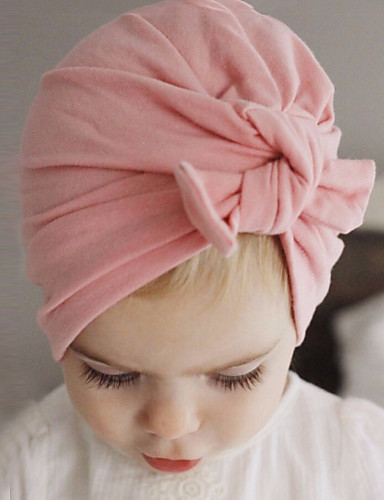cheap Top Sellers-Toddler Boys' / Girls' Cotton Hats & Caps Pink / Gray / Purple One-Size / Hair Tie