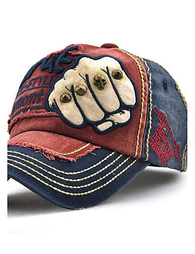 preiswerte Baseballkappen-Unisex Retro Freizeit, Baumwolle Sonnenhut Baseball Kappe Patchwork