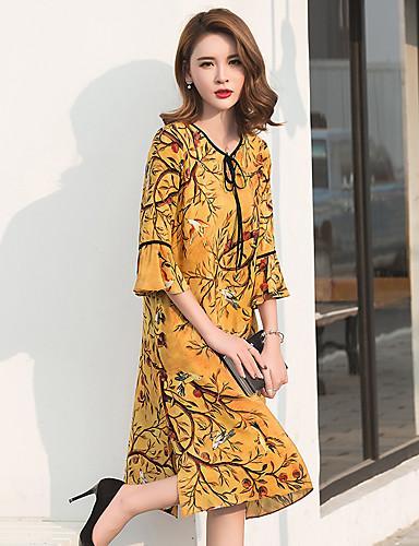 merkki 2017 kesällä uusi kiinalainen folk retro tulostaa suuri koko löysä  ohut silkki mekko 5623134 2019 – hintaan  8.82 b133e1619d