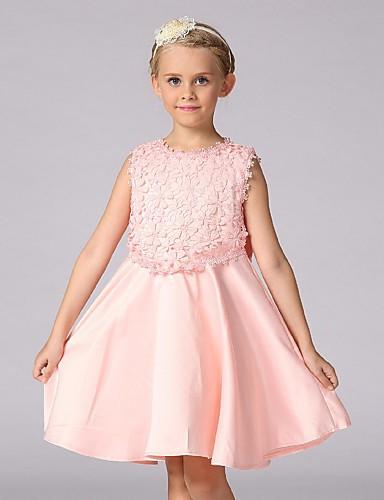 08b5a3cddfb φόρεμα κορίτσι λουλουδιών μήκος φορεμάτων κορίτσι λουλουδιών - organza  αμάνικο λαιμό κόσμημα με πλώρη από το ydn 5617160 2019 – $44.99