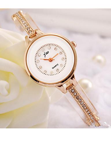 ของสตรี นาฬิกาแนวสปอร์ต นาฬิกาอิเล็กทรอนิกส์ (Quartz) / สแตนเลส วงดนตรี ทอง ขาว สีทอง