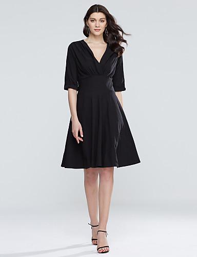 Γυναικεία Μεγάλα Μεγέθη Θήκη Φόρεμα - Μονόχρωμο 6b3b8fa0954