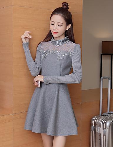 1993850edb35 χειμώνα νέο γυναίκες κορεατική έκδοση του γλυκού φθάνοντας μακρυμάνικο πλεκτό  φόρεμα φθινόπωρο τμήμα μήκους μάλλινο φόρεμα 5630749 2019 –  13.99