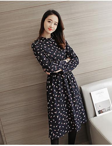 Lange Løse Den Del Kjole Foråret Koreanske Version Blomstret Af Wv7qwS