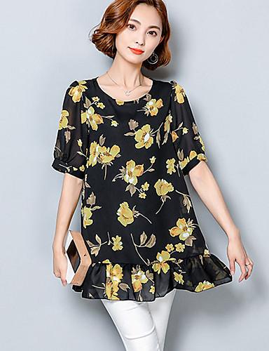Women S Plus Size Rayon Polyester Blouse Print 5747313 2019 13 64
