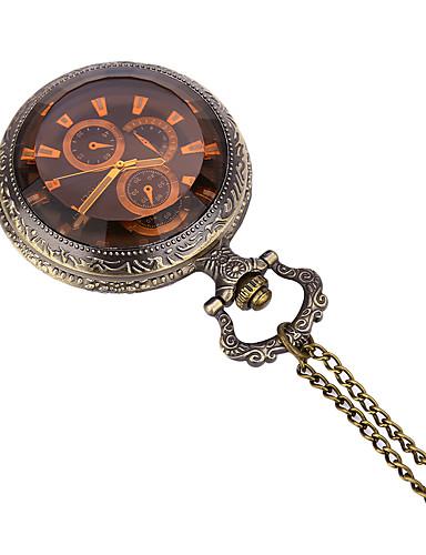 JUBAOLI สำหรับผู้ชาย นาฬิกาแบบพกพา นาฬิกาอิเล็กทรอนิกส์ (Quartz) ทองแดง นาฬิกาใส่ลำลอง / ระบบอนาล็อก ไม่เป็นทางการ - บรอนซ์ หนึ่งปี อายุการใช้งานแบตเตอรี่ / SSUO LR626