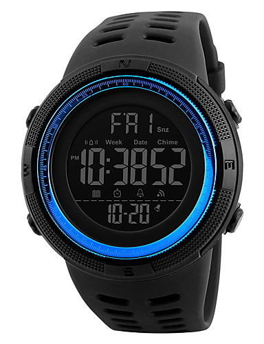 b9767dff6203 Hombre Reloj Deportivo Reloj de Pulsera Digital Caucho Negro 30 m  Resistente al Agua Despertador Calendario Digital Marrón Rojo Azul Dos año  Vida de la ...