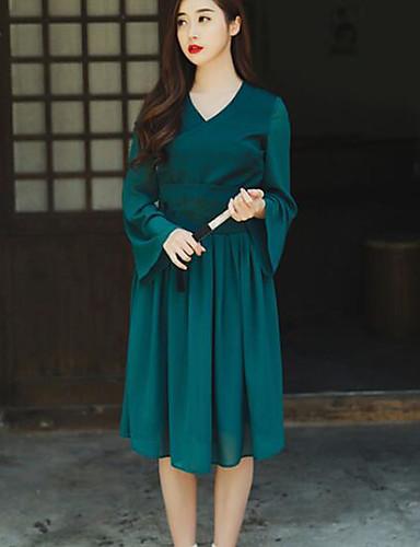 e5960ec5fd kínai szél elegáns stílusú gallér hímzés öv chiffon szoknya ruha 5703681  2019 – $20.99