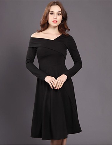 f54826e307f2 Hepburn μαύρο φόρεμα και καιρό τα τμήματα 2016 χειμώνα γυναίκες λεπτό  στράπλες v-λαιμό μικρό μαύρο φόρεμα ήταν λεπτή πλέξη 5660170 2019 –  16.79