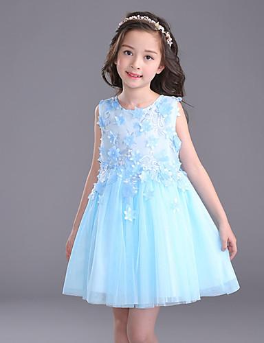 Plesové šaty Krátký   Mini Šaty pro květinovou družičku - Bavlna Satén Tyl  Klenot s Aplikace Výšivka 5716854 2019 –  54.99 a28d666fdda