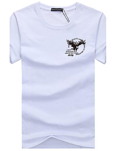 a2cb8abac4a Men s Sports Basic Plus Size Cotton Slim T-shirt - Geometric Print Round  Neck   Short Sleeve 5731764 2019 –  6.99