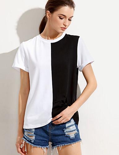 7da9d824820d Γυναικεία T-shirt Καθημερινά Εξόδου Καθημερινό Τετράγωνο Καρό ...