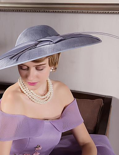 preiswerte Partyhut-Flachs / Feder / Samt Kentucky Derby-Hut / Fascinatoren / Hüte mit 1 Hochzeit / Besondere Anlässe / Draussen Kopfschmuck