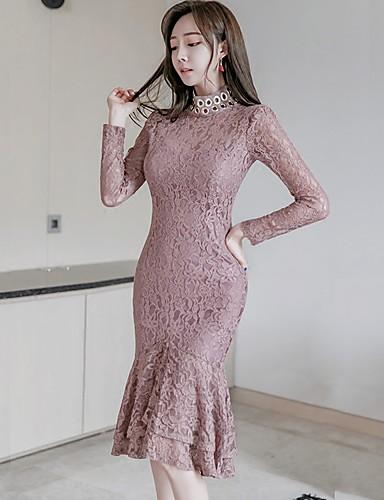 2fac64190d 2016 őszi-téli új koreai nők vékony szexi hölgyek állni gallér hosszú ujjú  csipke ruha lapított 5706363 2019 – $22.99