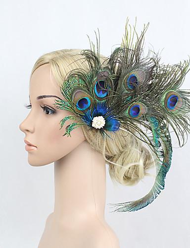 preiswerte Parykopfbedeckungen-Strass / Feder / Aleación Blumen / Kopfbedeckung / Haarklammer mit Blumig 1pc Besondere Anlässe Kopfschmuck