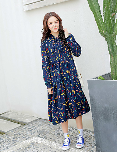 merkki 2017 keväällä uusi Korean Kukka rusetti pitkä pätkä löysä sifonki  mekko 5659881 2019 – hintaan  15.74 a5cf635dcb