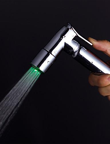 cheap LED Shower Heads-Contemporary Hand Shower Chrome Feature - Rainfall LED, Shower Head