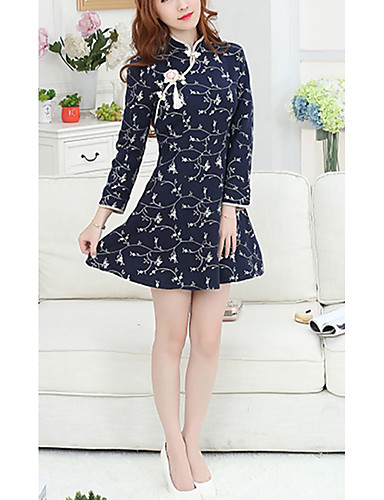 podepsat šlechtické temperament retro vyšívané šaty cheongsam 2016 dongkuan vlněné  zimní sukně byla štíhlých žen 5660479 2019 –  24.14 c3706410ef4