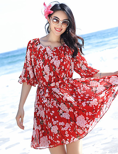 4fa1ffba2cf0 badeby strand kjole bohemaktige kjolen chiffon skjørt var tynn strand kjole