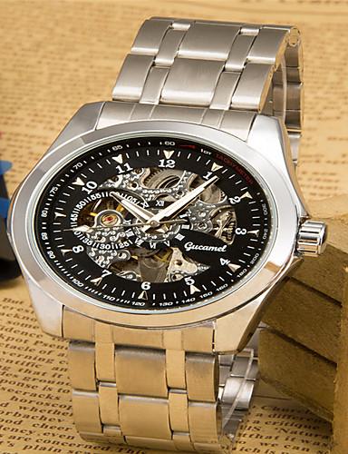 สำหรับผู้ชาย นาฬิกาแฟชั่น นาฬิกาอิเล็กทรอนิกส์ (Quartz) เงิน ระบบอนาล็อก ไม่เป็นทางการ - เงิน / ดำ สีเงิน / สีขาว ทอง / สีขาว