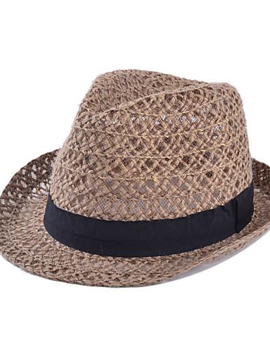Mujer Sombrero de Paja - Vintage Un Color   Verano 5744505 2019 –  11.54 b8ee14613cb
